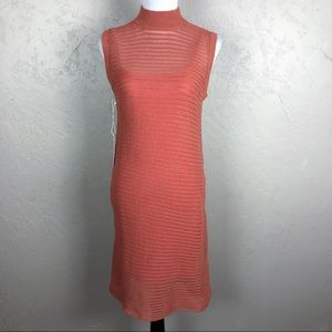 NWT Callahan Open Knit Striped Sweater Dress